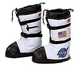 Aeromax Astronaut Boots, Size Medium, White, with NASA patches