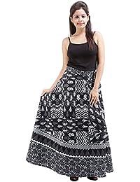 Jaipur Skirt Women's Cotton Wrap Skirt - B01F5OI3B8