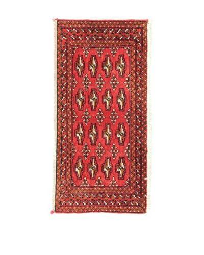Eden Carpets Alfombra Yamut Rojo/Multicolor 98 x 48 cm