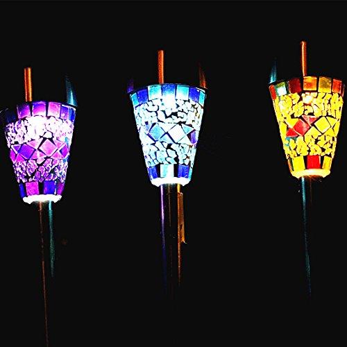 3Pack-Mosaic-Solar-Lights-Outdoor-Sogrand-3-Color-Mosaic-Lens-Solar-Garden-LightsSolar-Pathway-Lights-Solar-Walkway-Lights-Solar-Path-Lights-Solar-landscape-lights