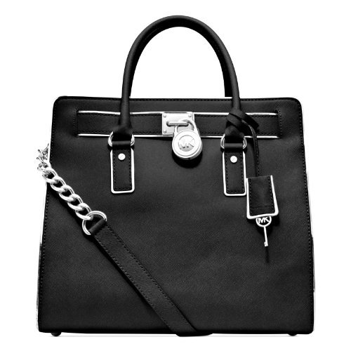Michael Kors Hamilton Specchio Black Leather Tote