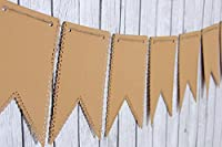 Kraft Paper Swallowtail Banner Pennant , 10 Piece Garland Bunting, 9 X 5.5 Inches by Creative Juice Cafe