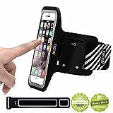 EOTW iPhone6 ランニング アームバンド ケース ヘッドフォンホルダー iPhone6/6S用 4.7インチ スマホ アームバンド ポーチ 防水 超薄型 キーポケット付 (4.7インチ)