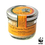 UNREFINED NATURAL SEA SALT WITH ORANGE PEEL from Trapani Salt Pans WWF NATURAL RESERVE by Vincenzo Gucciardo 90g - Italian Artisan Food Gourmet Deli