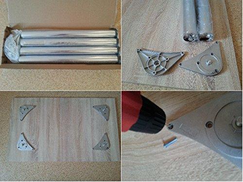 Design esstisch küchentisch bistrotisch ahorn mit chromfuß 100×60 ...
