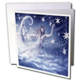 3dRose Susan Brown Designs Angels or Fairy Themes - Cure for Insomnia - 6 Greeting Cards with envelopes (gc_110887_1)