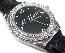 buy Xzs211 New Leather Diamond Crystal Watch / G-Unit Hip Hop Logo