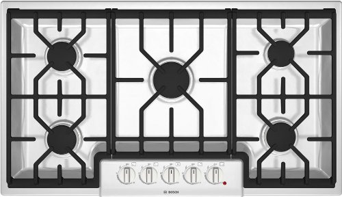 Bosch NGM5624UC 36″ 500 Series 5 Sealed Burner Gas Cooktop – NGM5624UC,White  ->  36″ 500 Series 5 Sealed Burner Gas Cooktop – NGM56