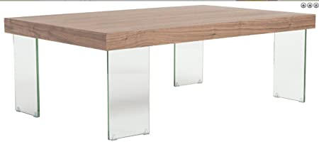 Eurostyle Cabrio Coffee Table in Clear and Walnut