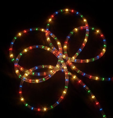 27' Multi-Color Indoor/Outdoor Christmas Party Rope Lights - 8 Functions