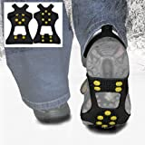 WinterWise� 10-STUD Ice Traction Universal Slip-on Stretch fit Snow & Ice Spikes (Grips, Crampons, Cleats)by WinterWise
