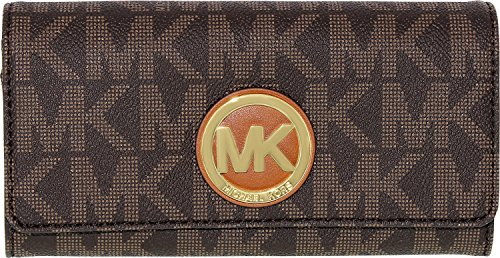 michael-kors-womens-logo-charm-leather-wallet-baguette-brown