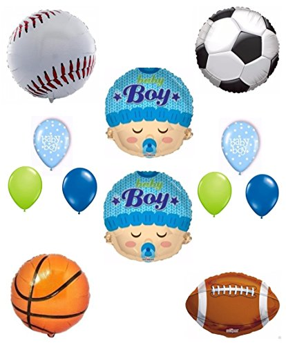 Its a Boy Baby Shower Sports Theme Balloon Decoration Kit (Baby Shower Themes compare prices)