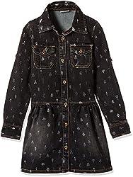 UFO Girls' Dress (AW16-WR-GKT-342_Black_2 - 3 years)
