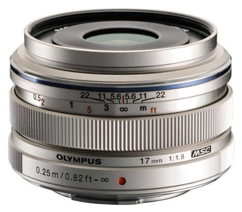 Olympus M.Zuiko 17mm f/1.8 Lens, Silver (Micro Four Thirds Mount)