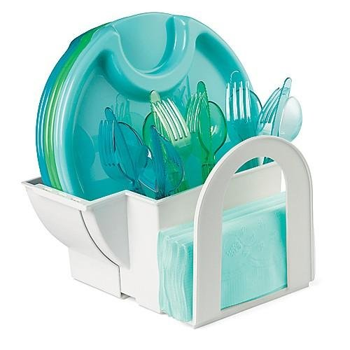 The P&ered Chef Outdoor Paper Plate/napkin/utensil Caddy Review  sc 1 st  Cutlery Caddy Grand Sales & Cutlery Caddy Grand Sales: The Pampered Chef Outdoor Paper Plate ...
