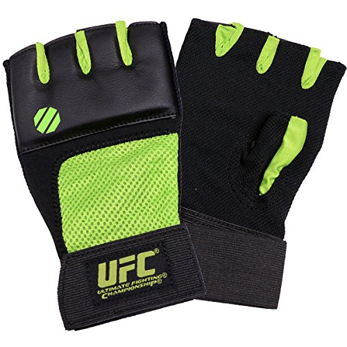 UFC 1483P-510252 Gel Glove - Neon Green & Black, Large-Extra Large