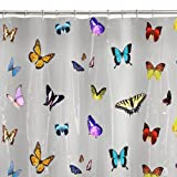 Maytex 13-Piece Papillion PEVA Shower Curtain Set