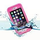iPhone 6 Plus Waterproof Case, iThroughTM iPhone 6 Plus Waterproof, Dust Proof, Snow Proof, Shock Proof Case with Transparent Screen Protector, Waterproof up to 20ft, Carrying Cover Case for iPhone 6 Plus (Pink)