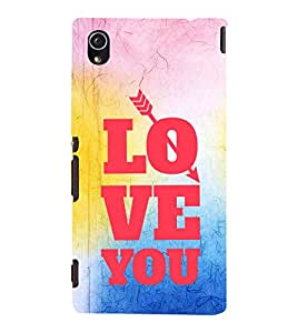 EPICCASE love for you Mobile Back Case Cover For Sony Xperia M4 Aqua Dual (Designer Case)