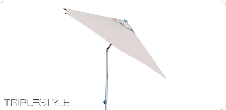 """6-tlg. Schirm """"Elba"""" Größe: 15cm H x 173cm B x 17cm T, Farbe: Taupe günstig online kaufen"""