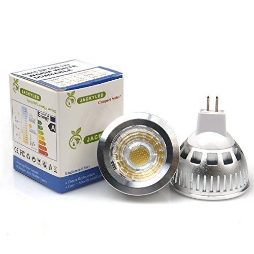 Jacky Led Mr16 6W Dimmable Cob Led Lights Bulbs Lamp, 55W Equivalent, Cool White 6000K, Recessed Lighting, Led Spotlight, 550Lm