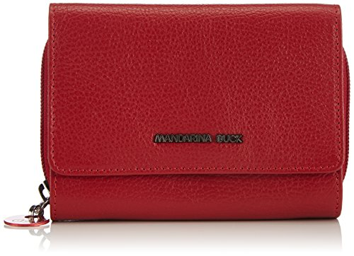 mandarina-duck-womens-mellow-leather-portafoglio-wallets-red-size-4x10x14