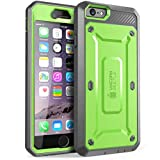 Supcase Unicorn Beetle Pro Built-in Screen Protector Belt Clip Holster Case for iPhone 6s Plus - Green/Gray