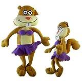 Nickelodeon Spongebob Sandy Squirrel Plush Doll - Spongebob Squarepants Sandy Cheeks Squirrel Stuffed Animal (13in) Plush Toy