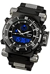 Night Vision INFANTRY Mens Military Army Sport Quartz Wrist Watch Black Rubber Strap #IN-050-BLK-R