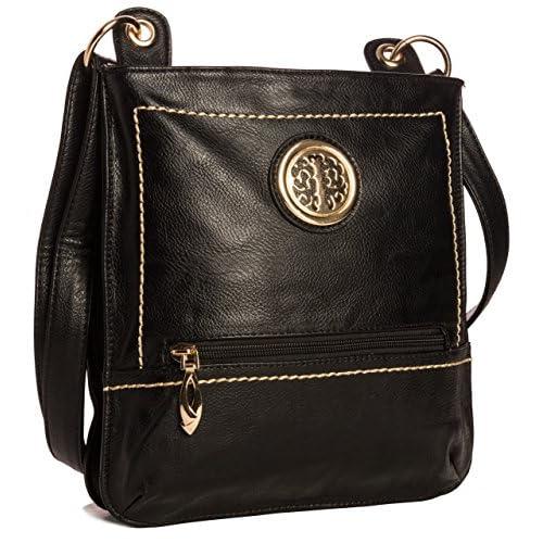 Big Handbag Shop New Womans Designer Medium Messenger Crossbody Shoulder Bag