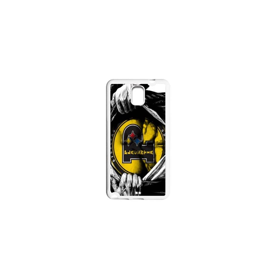 NFL Pittsburgh Steelers Logo Theme Custom Design TPU Case Protective Cover Skin For Samsung Galaxy Note3 NY235
