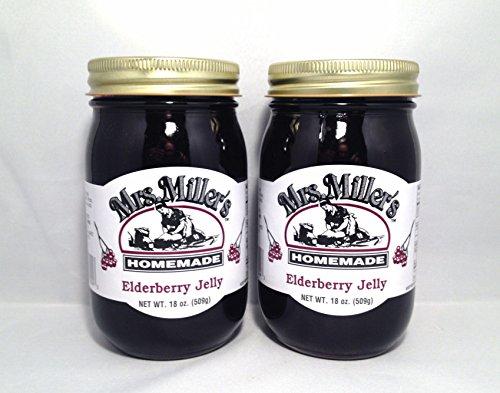 HUGE 18 oz Mrs. Miller's Elderberry Jelly - Pack of 2 ...
