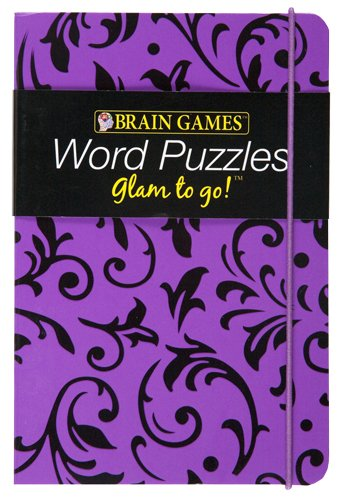 Brain Games Glam to Go! Word Puzzles (purple cover) Image