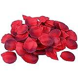S/O 500er Pack Rosenblätter Rosenblüten Bordauxe Rosen Blätter Blüten Kunstblumen Seidenblumen (0177)