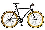 ANIMATO(アニマート) ピストバイク 700C PISTO (700C ピスト) マットブラック×ゴールド シングルスピード A-12