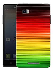 "Colorful Lines Abstract Printed Designer Mobile Back Cover For ""Lenovo Vibe P1"" By Humor Gang (3D, Matte Finish, Premium Quality, Protective Snap On Slim Hard Phone Case, Multi Color)"