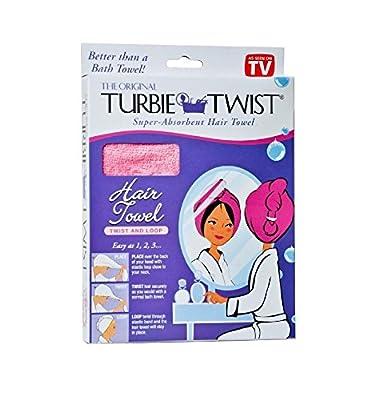 Turbie Twist Super-Absorbent Hair Towel Microfiber Twist & Loop (Colors May Vary)