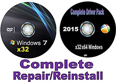 WINDOWS 7 Recovery Disc 32/64 Bit-Home Premium w/Network Drivers (Starter-Home Basic-Home Premium-Pro-Ultimate) Re-install Factory Fresh! Get online! Repair your PC. Full Support Included!