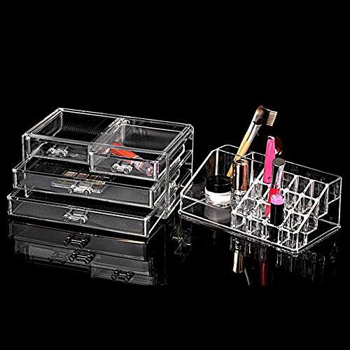 Neuf amzdeal rangement maquillage vanity case coffrets - Coffret rangement maquillage ...
