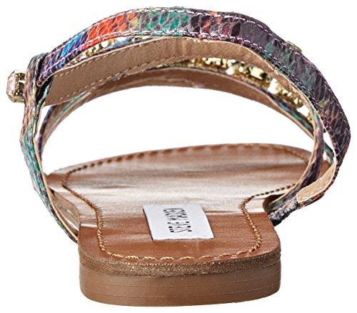 Steve Madden Women's Blazzzed Flip Flop, Bright Multi, 7 M US
