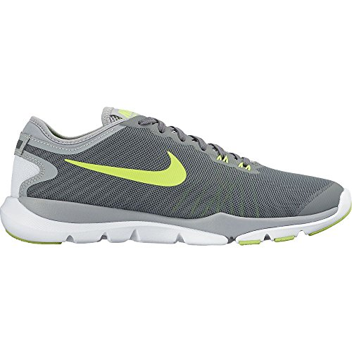 Nike Women's Flex Supreme Tr 4 Cool Grey/Volt/Pure Platinum Training Shoe 9 Women US