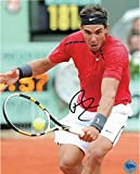 Rafael Nadal Autographed 8'' x 10'' Red Shirt Black Headband Photograph - Fanatics Authentic Certified