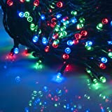 Weanas ® RGB Solar Power String Fairy Light 500 LEDs Multi Color Red Green Blue Flashing Solar Energy 166 feet 50.5M for Indoor Outdoor Home Garden Christmas Party