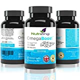 ? NutriZing's Omega 3 6 9 Triple Strength EPA & DHA ~ 1000mg for Women & Men ~ 90 capsules ~ 100% Pure & Natural Formula ~ Made in the UK ~ 100% Money Back Guarantee ~ High Strength Softgels ~ Essential Oils Supplement for Immune System ~ Flaxseed Oil ~ W