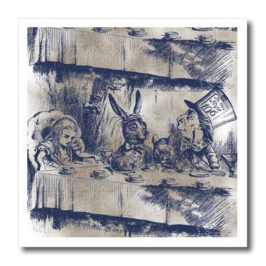 3Drose Ht_110203_3 Alice In Wonderland Tea Party With Mad Hatter-Iron On Heat Transfer For White Material, 10 By 10-Inch