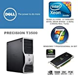 Dell Precision T3500 - Intel Xeon Quad Core W3530 2.8GHz / 3.06GHz Powerful Processor - Nvidia Quadro FX1800 768MB Professional Graphics Card - 500GB Hard Drive - 12GB Memory (RAM) - DVD RW - Genuine Windows 7 Professional 64 bit