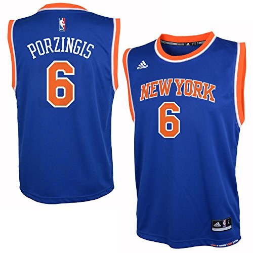New York Knicks Kristap Porzingis Youth Road Jersey Blue 18/20 (Nba Jersey New York Knicks compare prices)