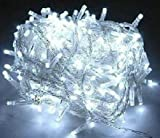 niceEshop 100 LED 10m Christmas Wedding White Color Fairy String Lights w 8 Function Controller