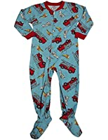 Sara's Prints - Little Boys Long Sleeve Footed Coverall